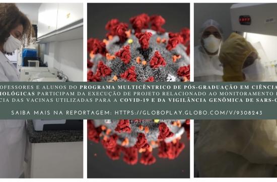 Professores e alunos do Multicêntrico estão participando de projeto para monitorar caso de cepa inglesa da Covid