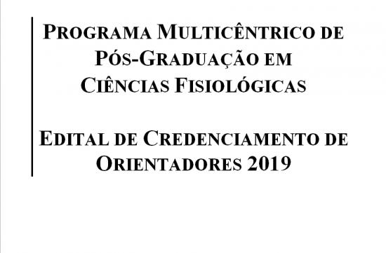 Edital de Credenciamento de Orientadores 2019