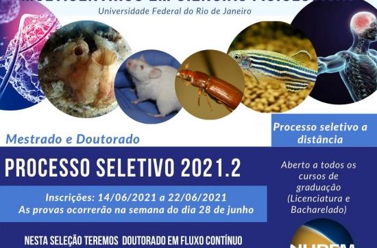 Editais para a seleção de candidatos à Turma de 2021/2 dos cursos de Mestrado e Doutorado Acadêmicos em Ciências Fisiológicas